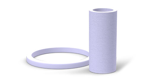 NCCM<sup>®</sup> Specialty Felt ring lying to the left of a felt tube