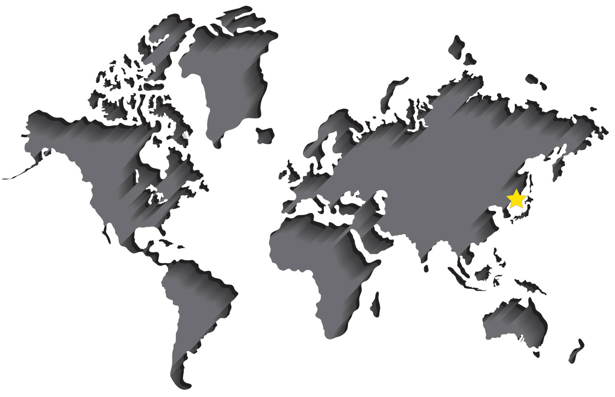 World map showing the NCCM China sales office